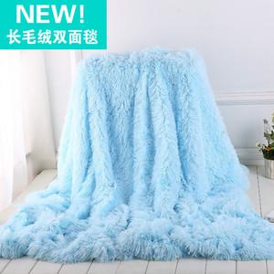 ins風加厚毯兒童拍照背景雙層絨珊瑚絨長毛絨毯子雙人毛毯沙發。