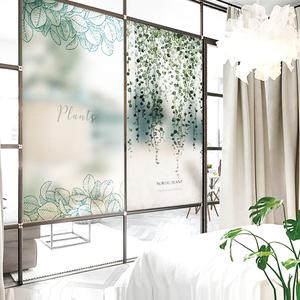 北欧玻璃移门窗户贴纸透光不透明卫生间遮光装饰浴室静电背胶贴膜