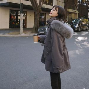 2019冬新款派克棉服女短款韓版寬松小個子加絨加厚工裝bf棉襖外套