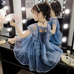 女童背心连衣裙夏装3-4三四五六7七?#21496;?#21313;周岁小女孩洋气公主裙子