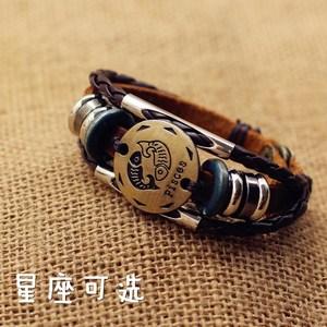 发型师男士手链钛钢霸气宽手环个性潮男韩版时尚手镯不锈钢首饰品