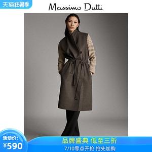 春夏折扣 Massimo Dutti新款 女裝 綴扣羊毛女式西裝背心 06454533830