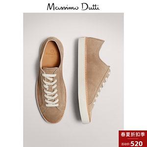 當季特惠 Massimo Dutti男鞋 沿條設計絨面真皮運動鞋 12112550107