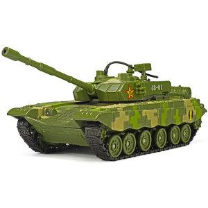 军事战车模型1:48中国99式主战坦克模型成品耐摔合金金属玩具