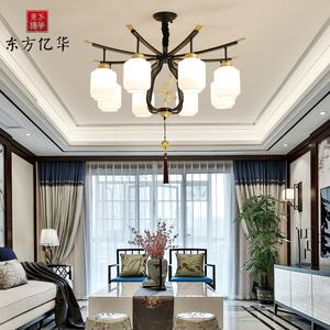 新中式吊灯客厅灯大气简约现代中国风禅意餐厅卧室茶室别墅复式楼