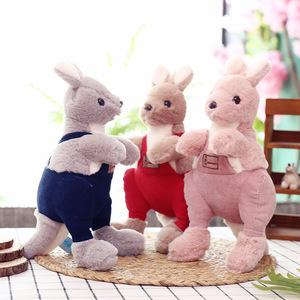 正版海草袋鼠公仔毛絨玩具澳大利亞袋鼠玩偶廠家直銷兒童玩具定制