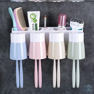 牙具牙刷置物架創意個性北歐杯架擠牙膏器洗漱架牆面家用小巧廁所