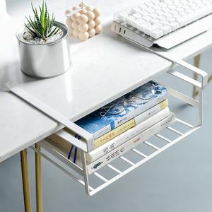 宿舍衣柜分层置物架厨房橱柜整理篮隔层挂篮收纳神器书桌隔板挂篮