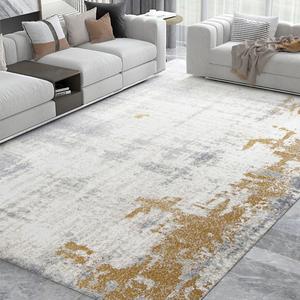 現代輕奢大氣客廳地毯茶幾毯歐式沙發墊子可擦家用易打理臥室地墊