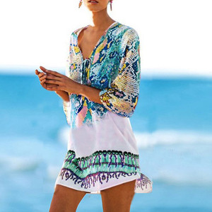 Womail Cover Ups Womens Cover Up Bohemia Swimsuit  strand ju