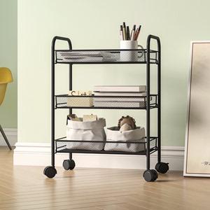 廚房小推車置物架落地多層臥室客廳宜家用儲物可移動零食收納架子