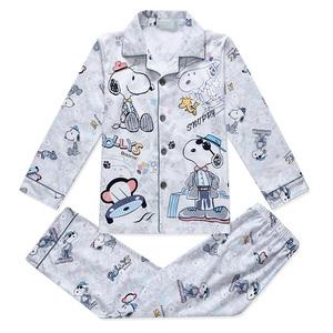 儿童睡衣男孩春秋季男童女童纯棉长袖睡衣套装中大童小孩家居服夏