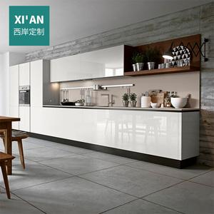 西岸橱柜定做整体厨房橱柜现代简约镜面烤漆橱柜定制全屋定制设计