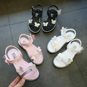 小公主白色女童凉鞋女孩2019新款4儿童9时尚韩版8软底6岁7中大童5