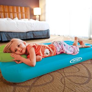 INTEX單人兒童家用充氣床墊旅行床臥室戶外便攜式加厚野營氣墊床