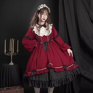 洛麗搭裙原創秋冬洛麗塔公主洋裝裙子蘿莉套裝衣服lolita裙洛莉塔