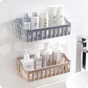 側所馬桶上放衛生紙的置物架衛生間免打孔粘貼式化妝品收納架壁掛