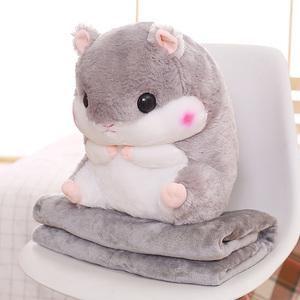 网红床上陪你睡觉仓鼠龙猫公仔布娃娃玩偶可爱抱枕超萌毛绒玩具女