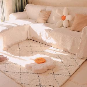北歐風地毯臥室床邊毯家用客廳茶幾毯大面積兒童房間防滑入戶門墊