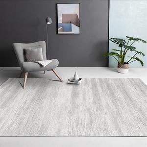 北歐輕奢灰色地毯客廳沙發茶幾地墊臥室滿鋪簡約現代大地毯可定制