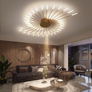 北歐客廳燈創意個性分子燈臥室燈吸頂燈三室兩廳全屋組合套餐燈具