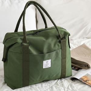 旅行袋子手提行李包网红单肩短途帆布旅行包女大容量斜挎收纳包男