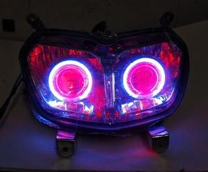 适用于新款BWSR八代摩托车bws路虎改装透镜天使眼氙气灯大灯总成
