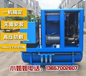 激光切割机专用螺杆式空压机空气压缩机气泵高压吹瓶13/16公斤