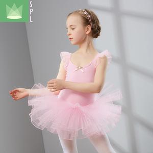 兒童舞蹈服女芭蕾舞跳舞裙女童中國舞體操服短袖女孩幼兒練功服夏