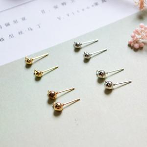 极简风耳环diy材料 带吊耳针手工制作耳钉耳饰品流苏串珠成人配件