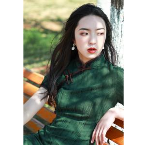 老上海旗袍復古民國棉麻女裝2021新款改良中國風年輕款少女連衣裙