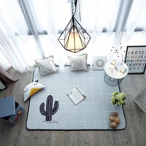 仙人掌地毯小清新简约ins风北欧风大尺寸爬爬垫茶几防滑客厅包邮