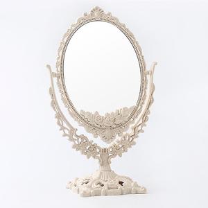 化妝鏡臺式鏡子桌面梳妝鏡家用臥室女大號美妝雙面北歐歐式公主鏡