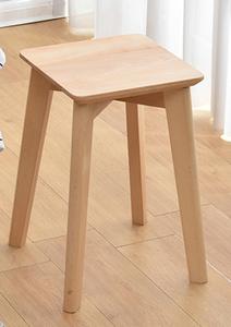 实木四方凳子家用餐桌凳橡木板凳北欧櫈子椅子加高餐厅叠加登子