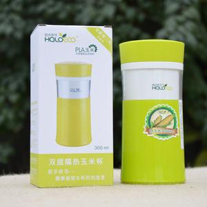 哈樂依可雙層隔熱玉米杯 健康環保隨手杯 辦公杯 旅行杯正品包郵