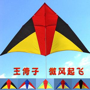 正品王侉子風箏新款微風544軟傘布夸子碳桿風箏三角大型成人高檔