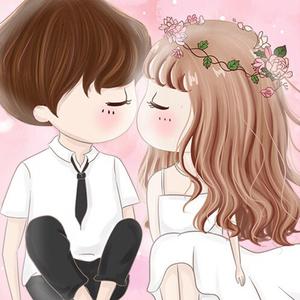 可爱男孩女孩钻石绣5D新款钻石画卡通儿童浪漫情侣十字绣客厅卧室