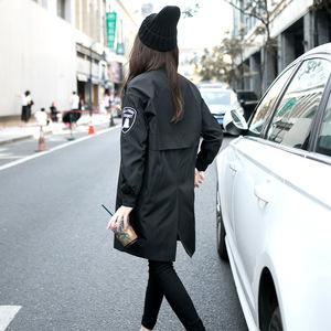 ccdd秋款女装2018新款专柜正品学生宽松中长款风衣外套20-30岁