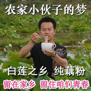 2019年莲藕粉500克包邮 广昌特产农家纯手工无糖无添加原味纯藕粉