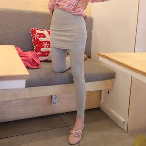 假兩件包臀裙褲莫代爾打底褲女夏季薄款外穿2020新款小腳九分褲子