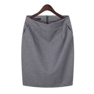 職業包裙包臀半身裙女夏工裝短裙子工作裙西裝裙黑色正裝裙一步裙