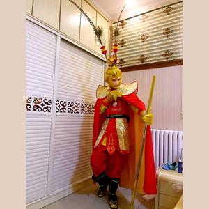 圣誕節元旦新款美猴王套裝成人孫悟空的衣服 齊天大圣服裝演出服