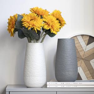 网红ins轻奢创意向日葵客厅陶瓷插花瓶北欧风格餐桌干花装饰摆件