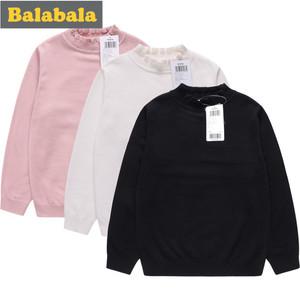 巴拉巴拉女童高領毛衣2019新款冬裝22034190802兒童針織打底衫