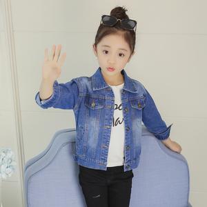 女童休闲牛仔外套春季韩版2020新款童装宽松牛仔衣中大童洋气上衣