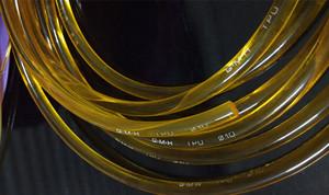 黄色半透明TPU光面圆皮带 牛筋条 优力胶棒 聚氨酯 直径6/7毫米mm
