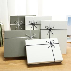 長方形大號禮品盒子精美禮物盒男女圍巾禮盒衣服包裝圣誕空盒定制