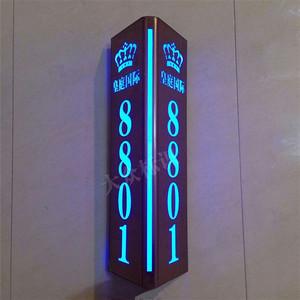 高档led三角双面发光门牌包厢带灯指示牌 酒店ktv门牌