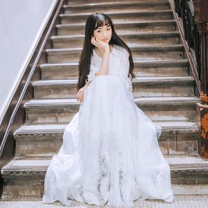 仙女裙学生甜美白长裙女2019新款夏超仙森系少女温柔很仙的连衣裙