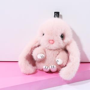 伊茹雪菲裝死兔大款毛球掛件水貂毛毛絨兔子掛件正版包包掛件掛飾